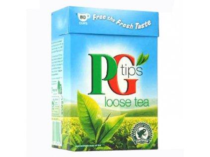 PG Tips Loose, černý čaj sypaný, tradiční anglický čaj 250g