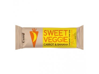 Bio tyčinka SWEET VEGGIE Mrkev & Banán raw 45g