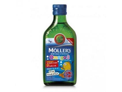 Möller's Omega 3 rybí olej ovocná příchuť 250ml