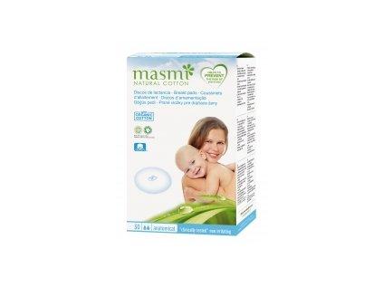 Prsní vložky pro kojící ženy z přírodní bavlny Masmi MA48