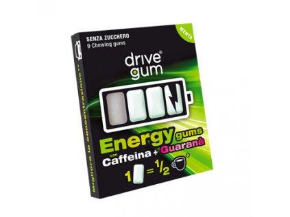Energizující žvýkačka kofein + guarana, bez cukru Drive Gum 9ks, 21g