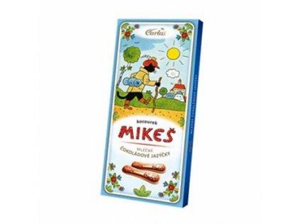 Čokoládové jazýčky mléčné, koucourek Mikeš 50g