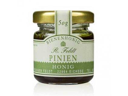 Piniový med tmavý, mírně pikantní, z borového lesa, Egejské moře, R. Feldt 50g