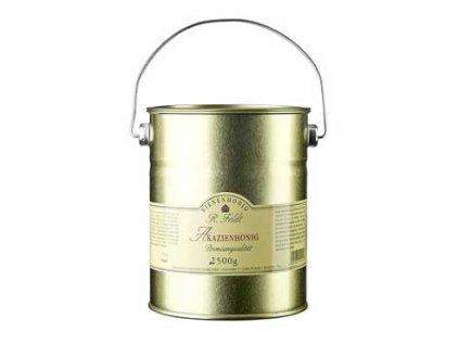 Akátový med, barva champagne - zlatavý, jemně sladký Maďarsko 2,5kg