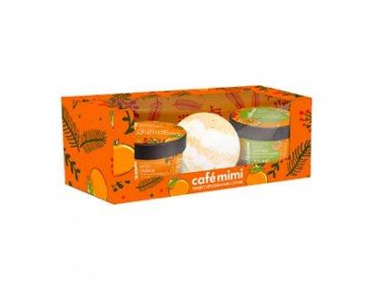 Dárkový set - Kořeněný pomeranč, CAFE MIMI (2x110ml, 120g)