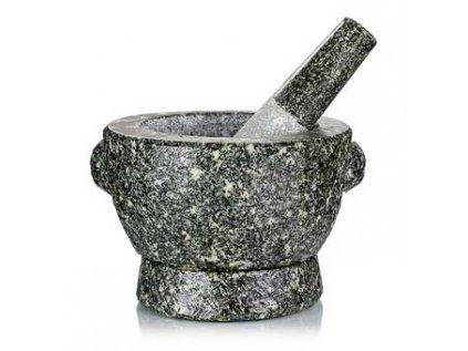 Kamenný hmoždíř, ø 16 cm vnější ø 12 cm uvnitř 11cm vysoký, 4kg