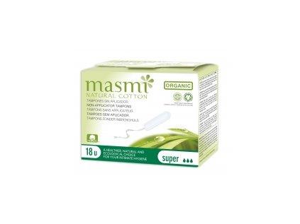 Tampony z organické bavlny Masmi, Super MA81
