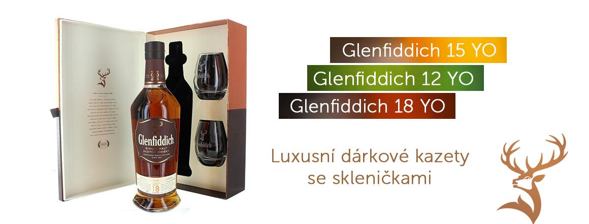 glenfiddich 12, 15, 18 - dárkové balení