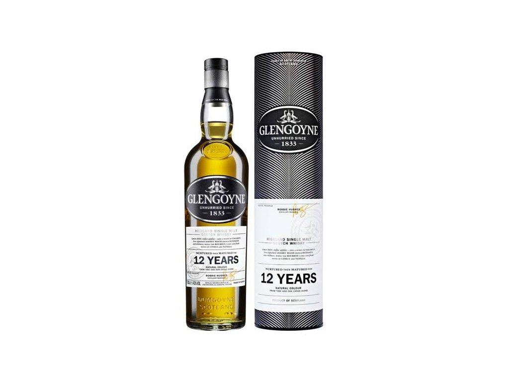 skotska single malt whisky glengoyne 12 yo giftbox