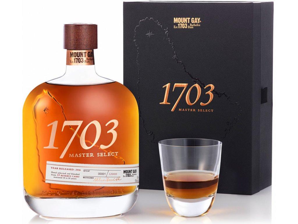 Mount Gay Rum 1703 master select giftbox