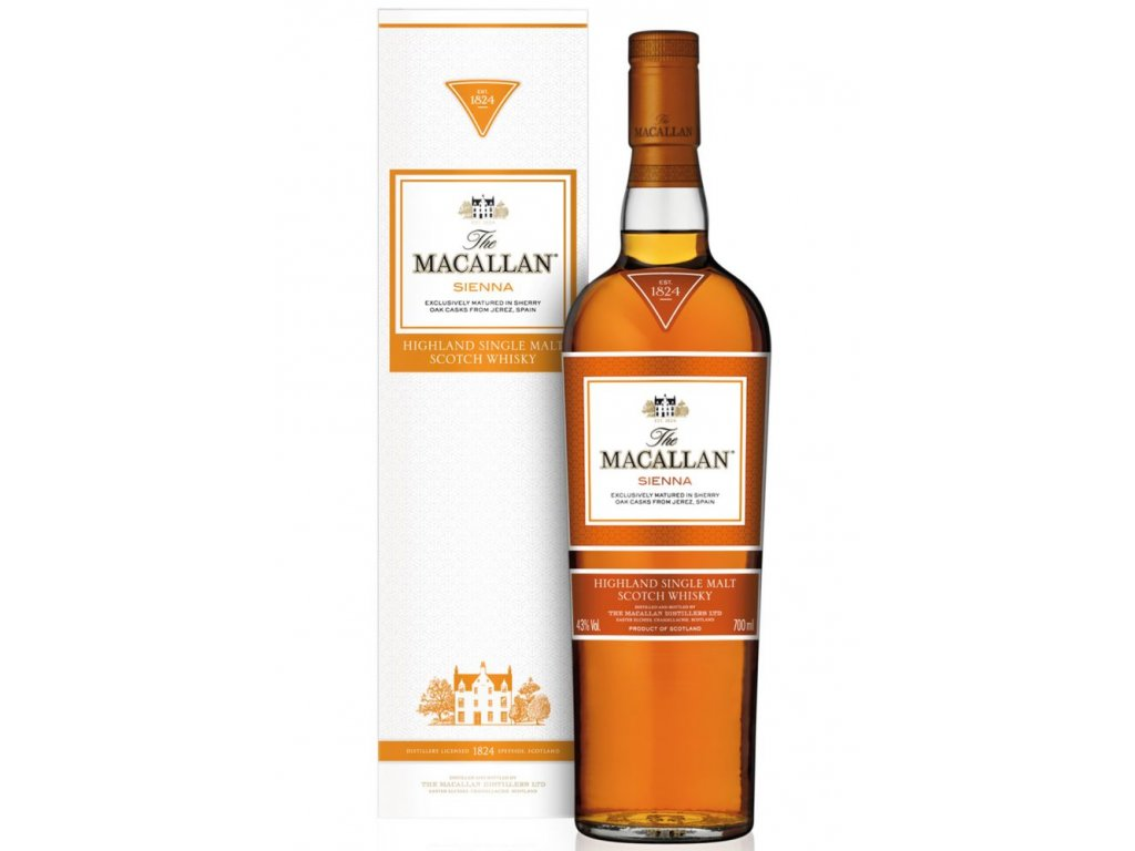skotska single malt whisky the Macallan sienna giftbox