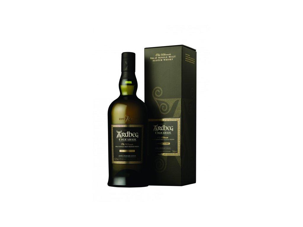 skotska single malt whisky ardbeg uigedail giftbox