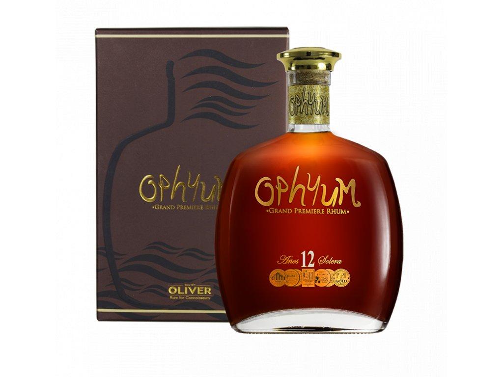 rum ophyum 12yo giftbox espirits