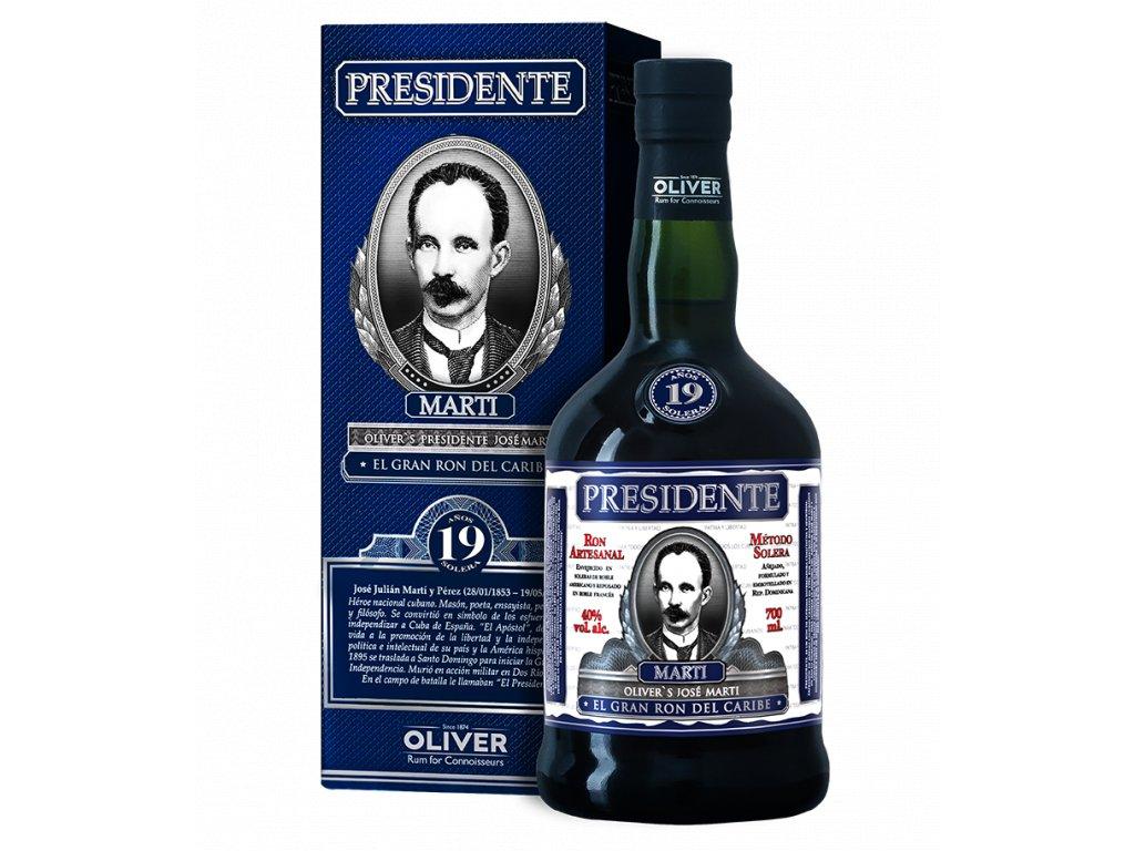 rum presidente 19yo giftbox espirits