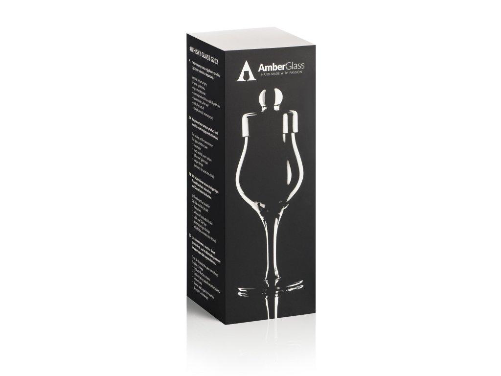 box amber glass whisky