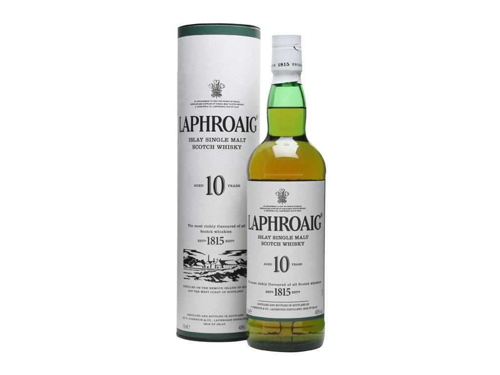 skotska single malt whisky laphroaig 10 yo giftbox