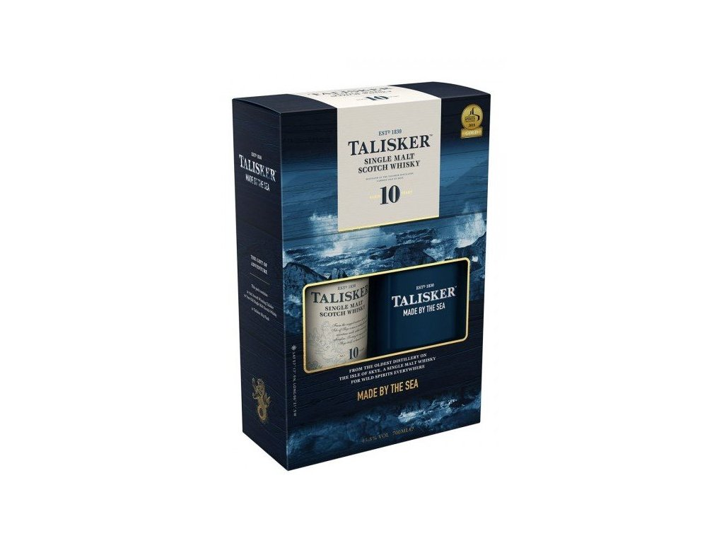 whisky talisker 10yo placatka