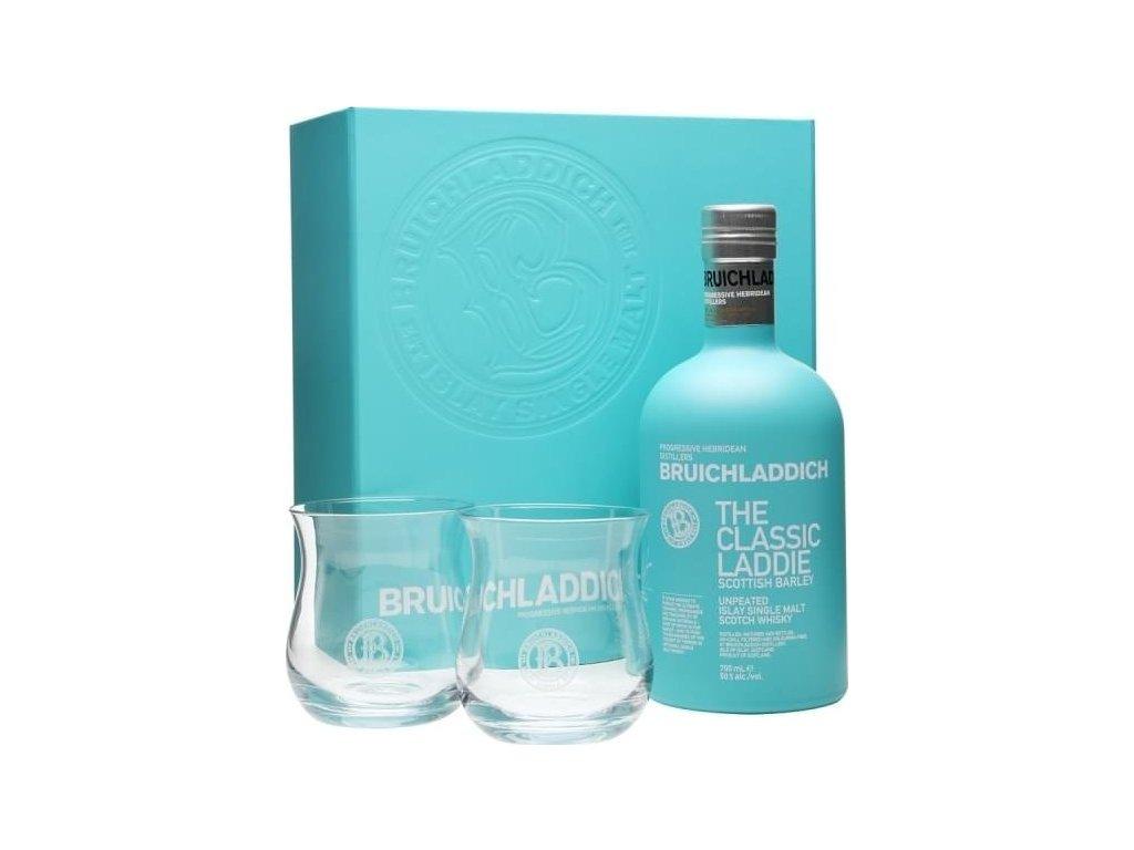 whisky bruichladdich classic laddie 2x glasses sklo