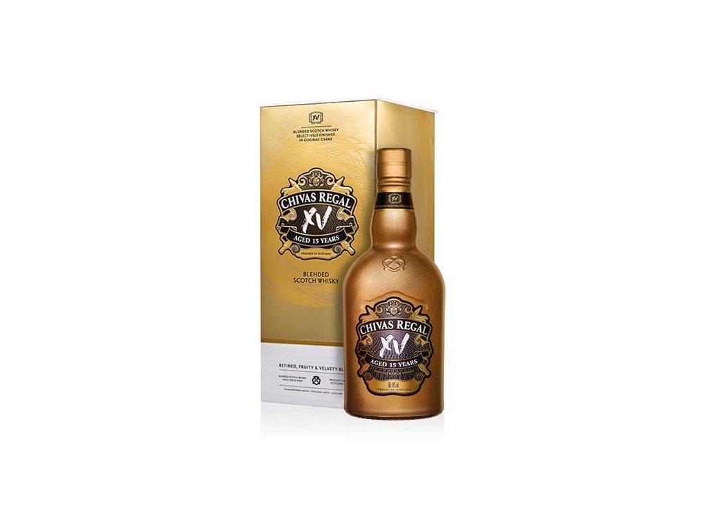 whisky chivas regal XV gold dárkové balení