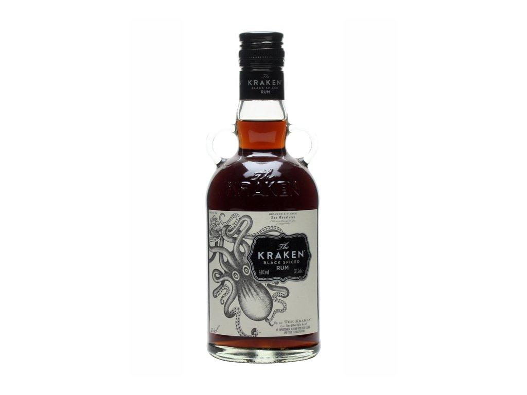 rum kraken black spiced bottle