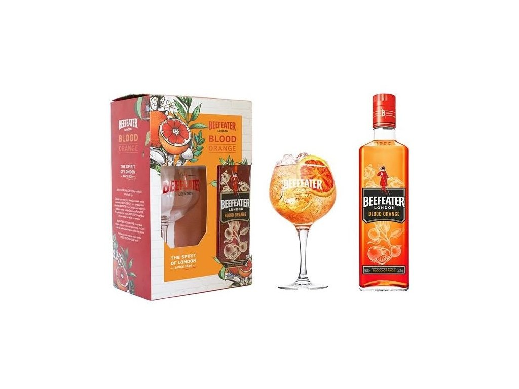 gin beefeater blood orange glass