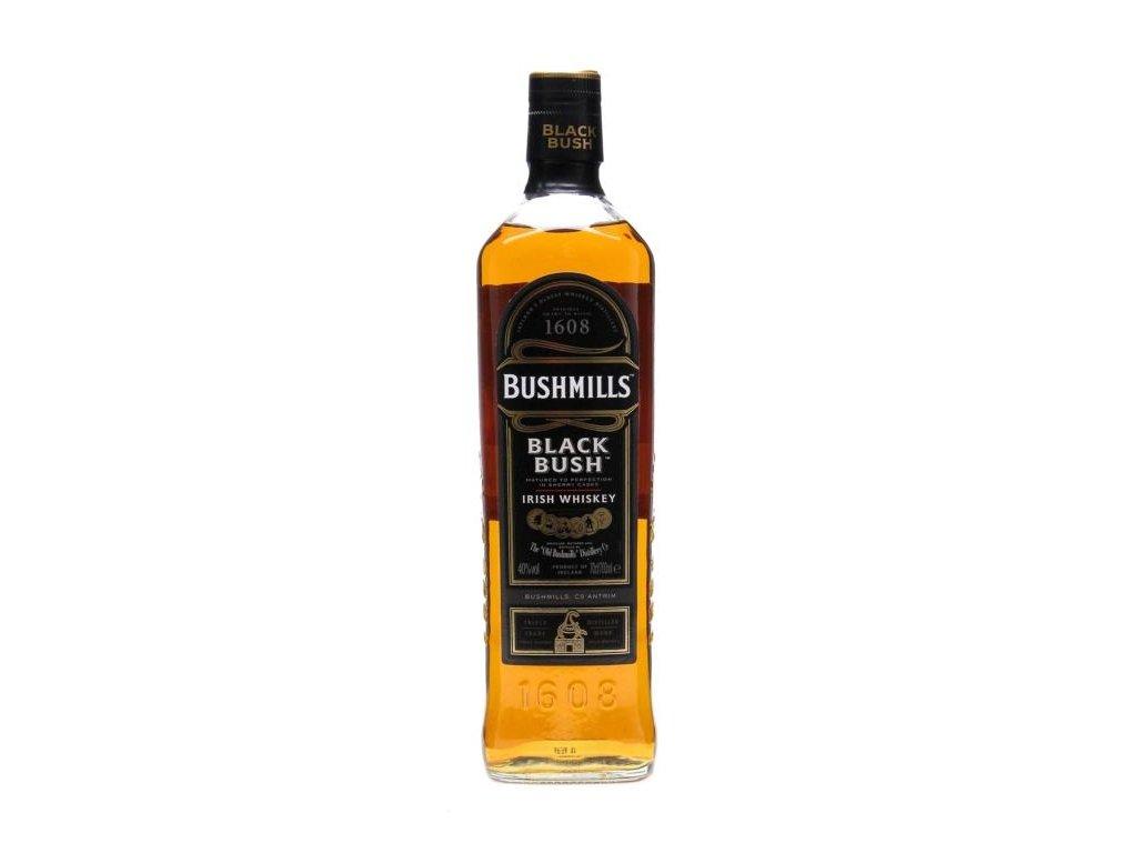 irska irish whiskey bushmills black bush bottle