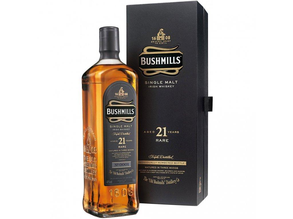 irska irish whiskey bushmills 21 yo giftbox