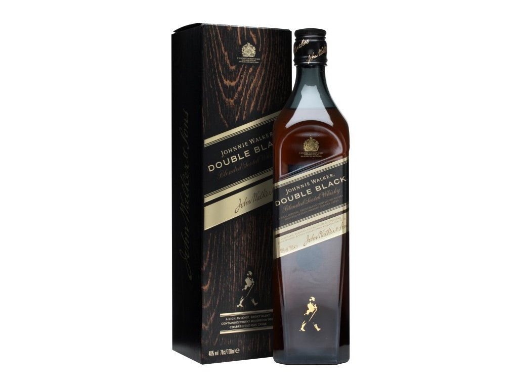 blended whisky Johnnie walker 12 yo double black giftbox