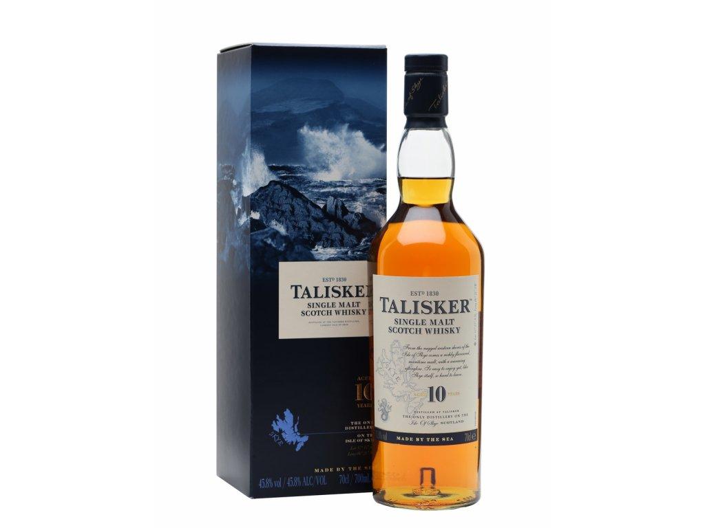 skotska single malt whisky talisker 10 yo giftbox