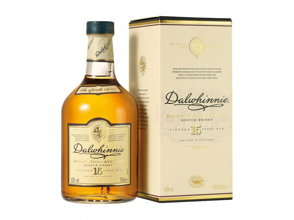 skotska single malt whisky dalwhinnie 15 yo giftbox