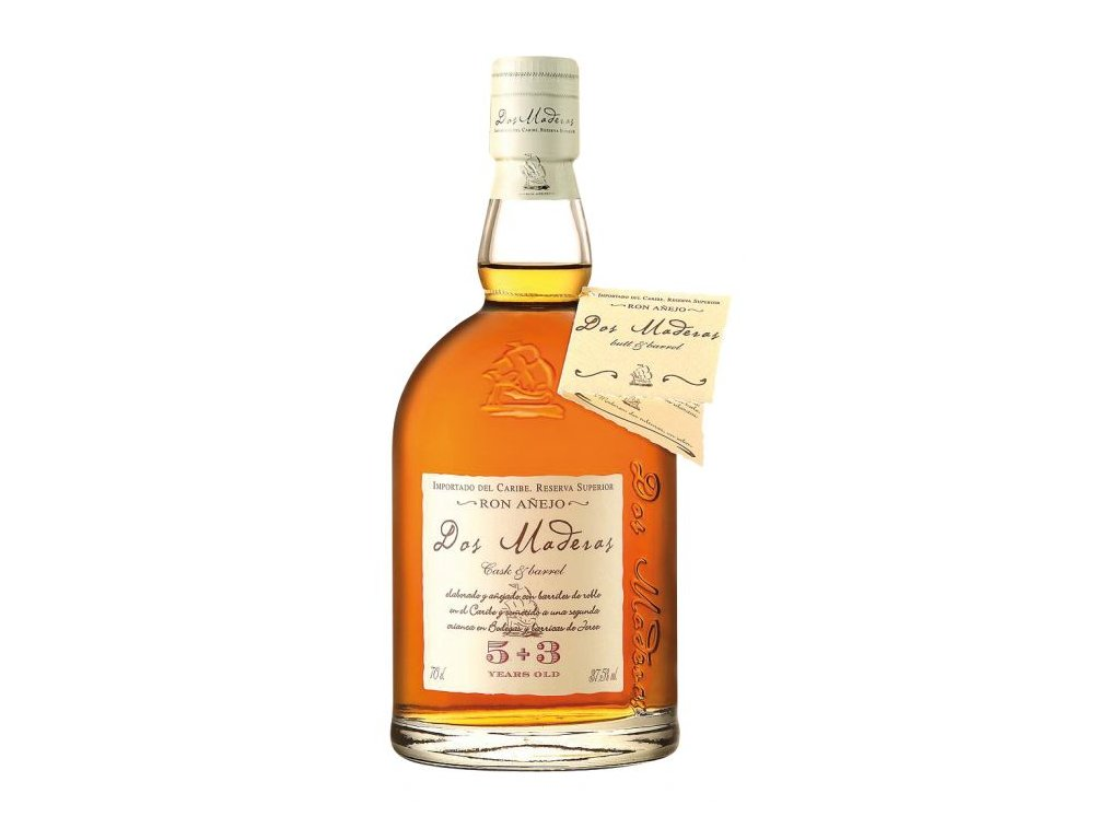 rum dos maderas 5+3 yo ron anejo reserva superior bottle