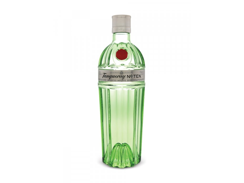 tanqueray no 10 London dry gin bottle