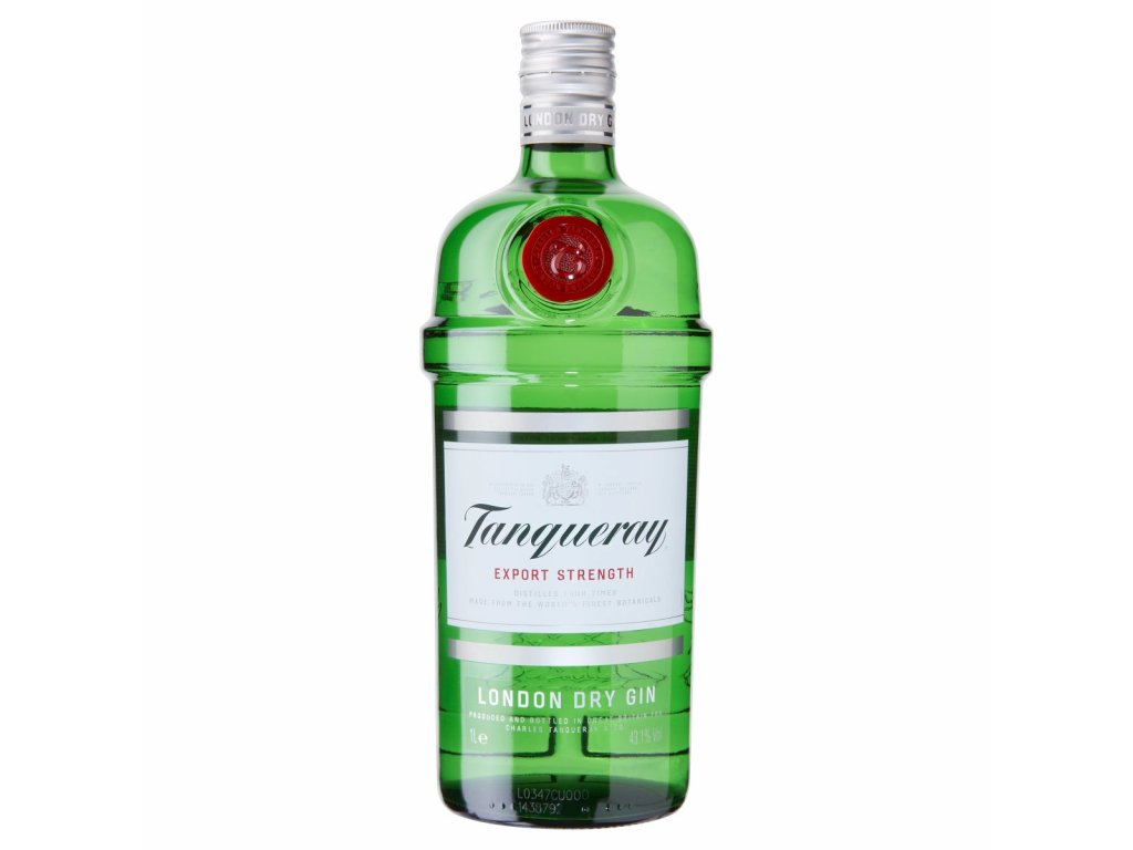 tanqueray London dry gin bottle