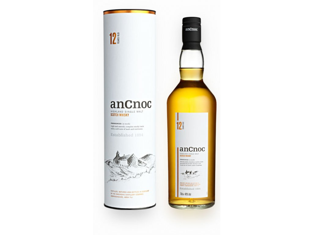 skotska single malt whisky ancnoc 12 yo giftbox