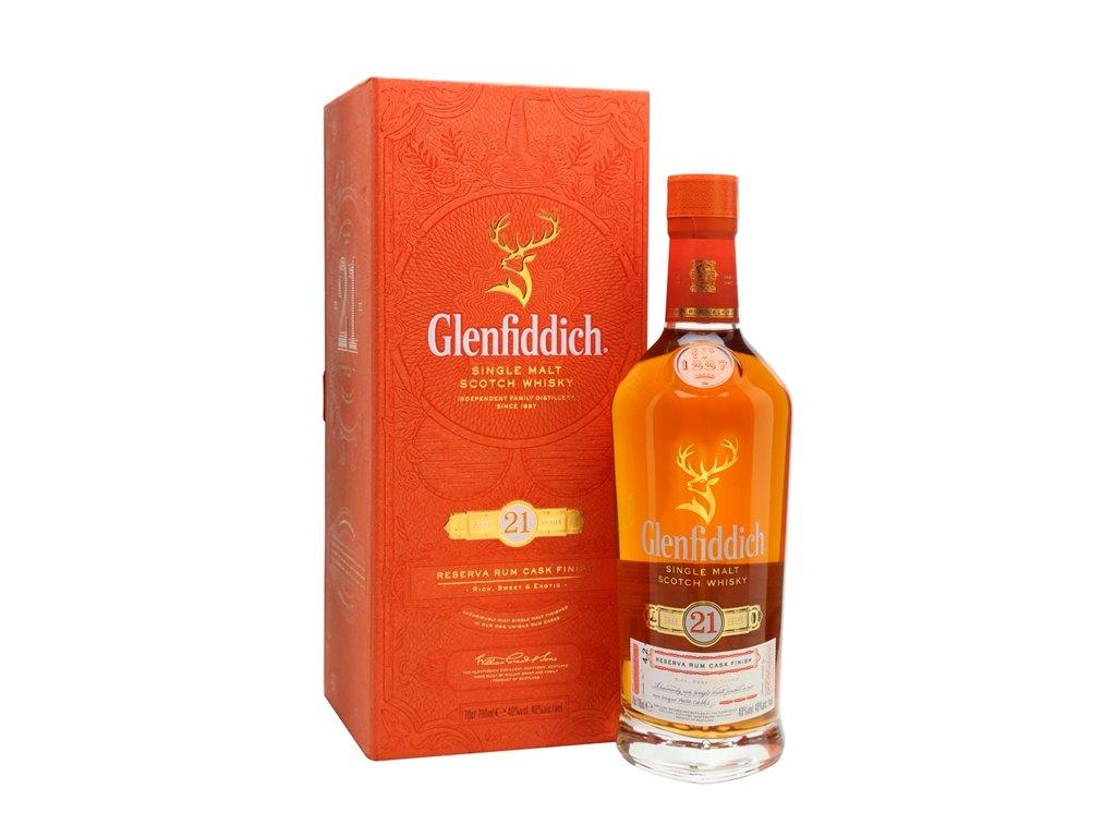 skotska single malt whisky glenfiddich 21 yo giftbox