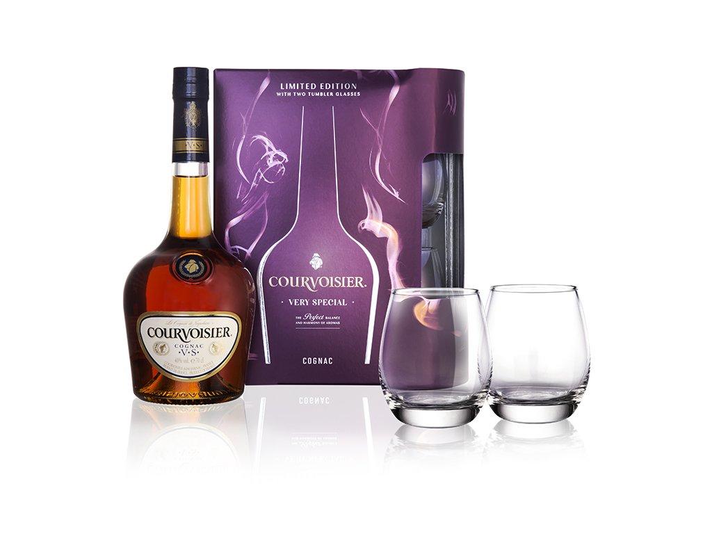 konak cognac courvoisier vs darkove baleni se sklenickami