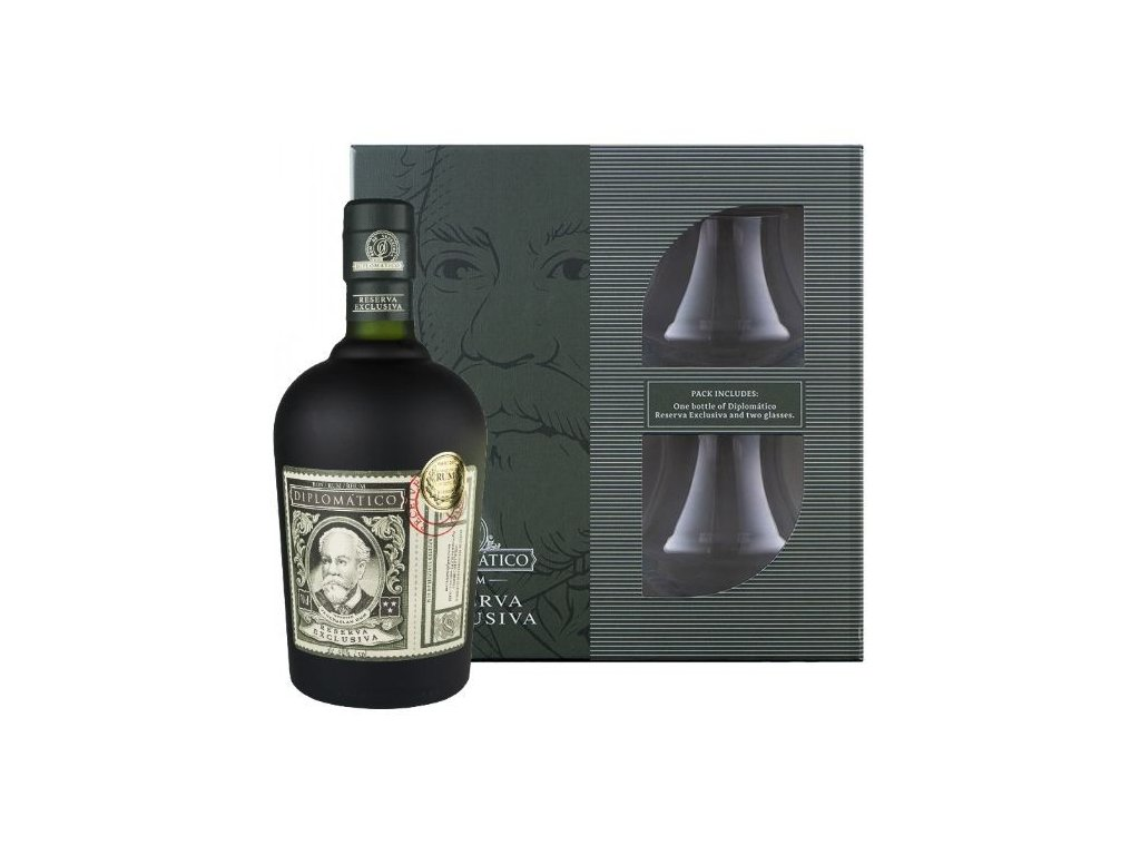 rum diplomatico reserva exclusiva glasses