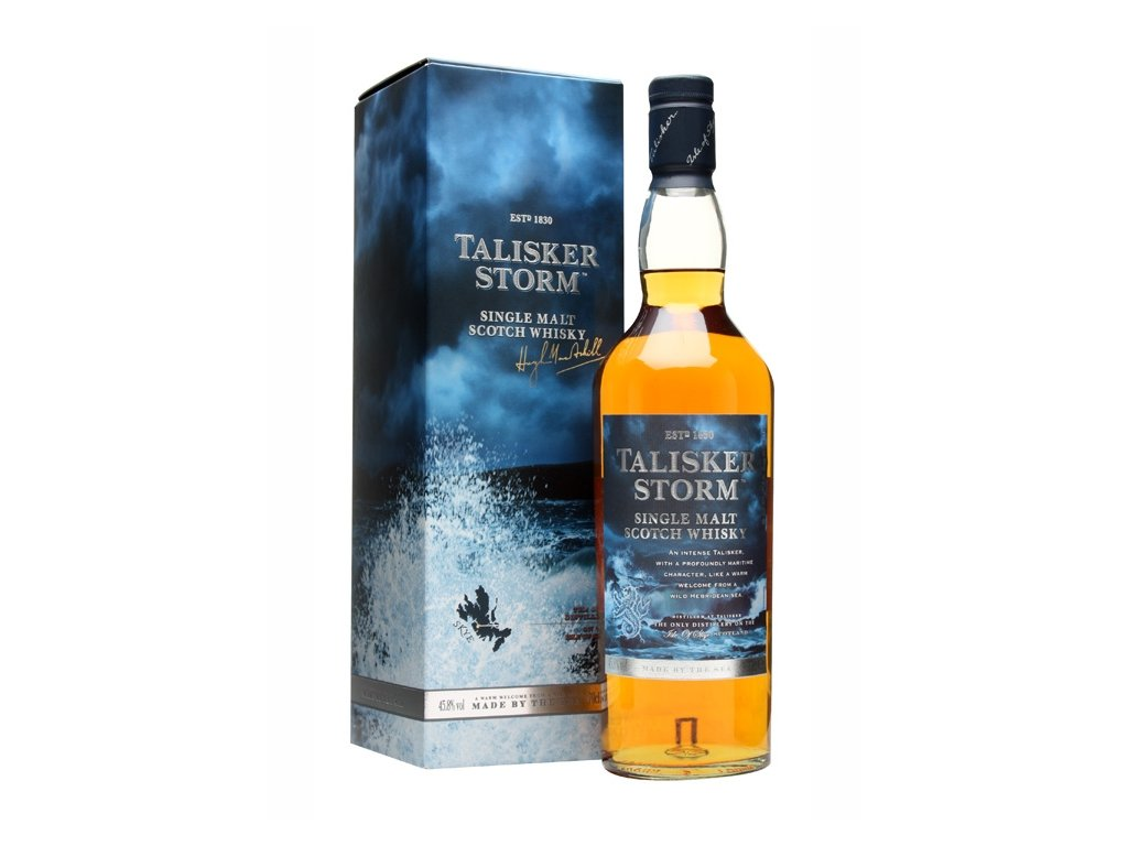 skotska single malt whisky talisker storm giftbox