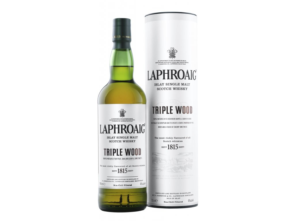 skotska single malt whisky laphroaig triple wood giftbox