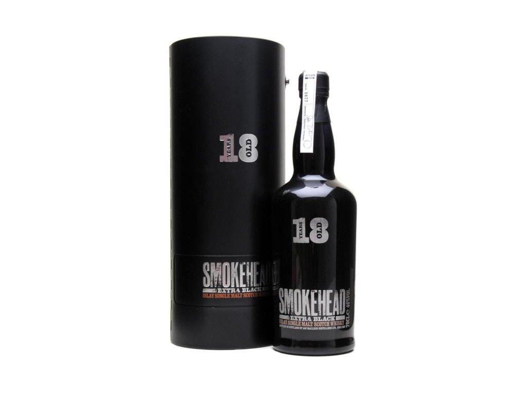 skotska single malt whisky smokehead 18 yo extra black giftbox