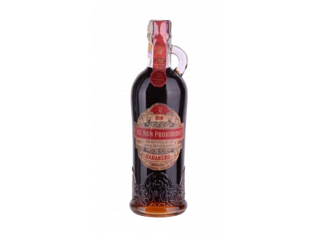 rum el ron prohibido habanero bottle