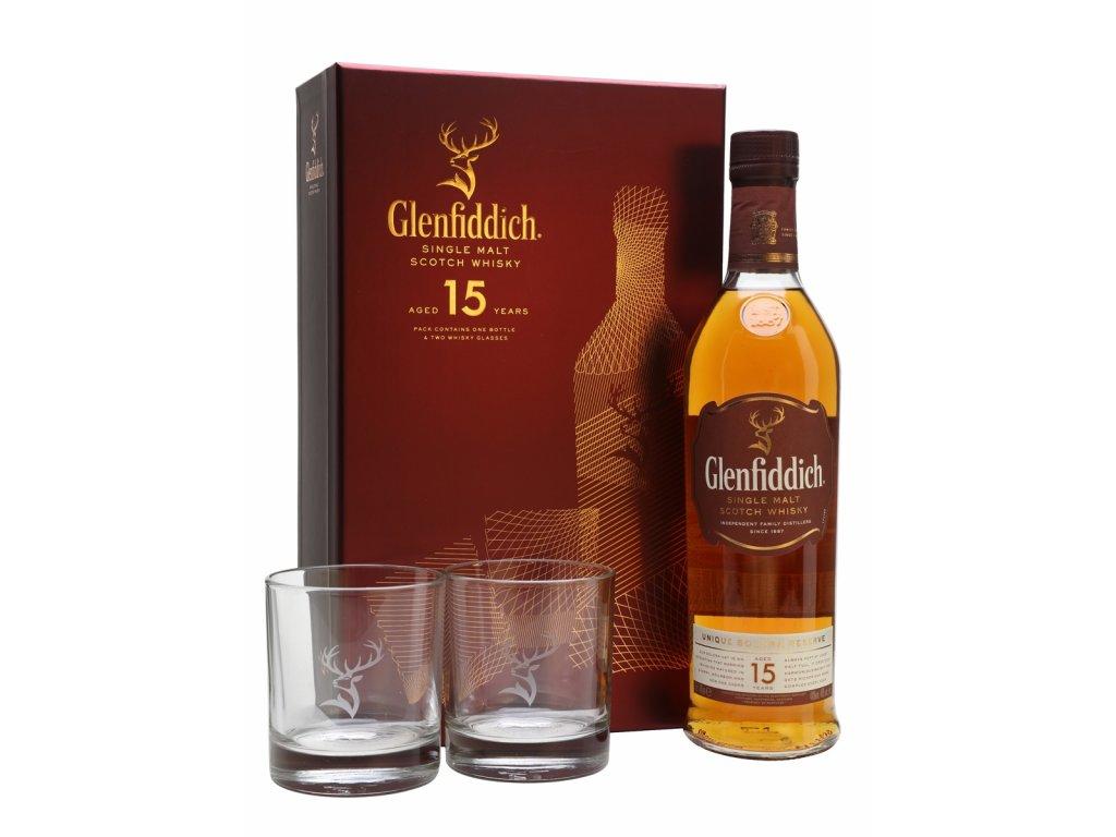 whisky glenfiddich 15yo glasses