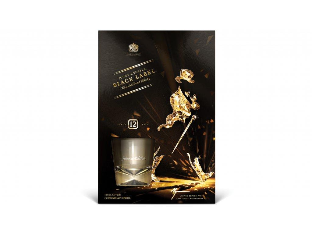 blended whisky Johnnie walker 12 yo darkove baleni sklenicky 2