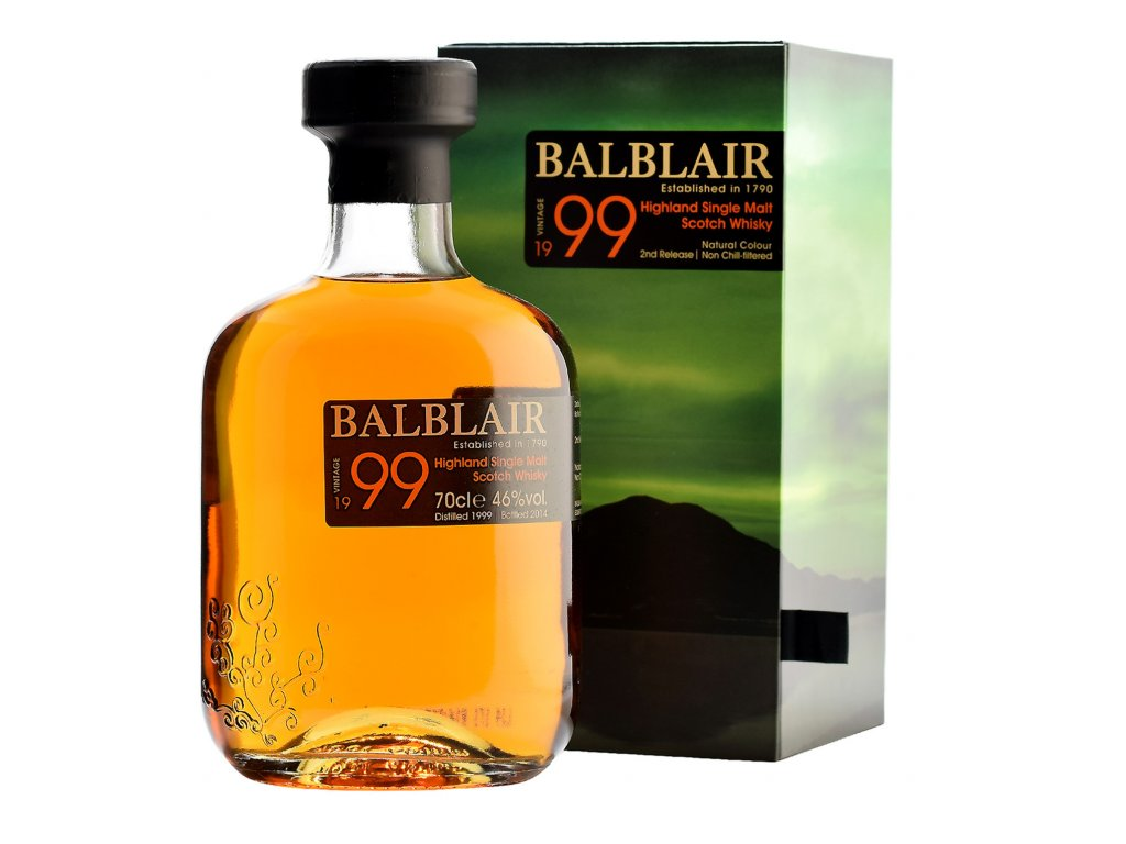 skotska single malt whisky balblair 1999 giftbox