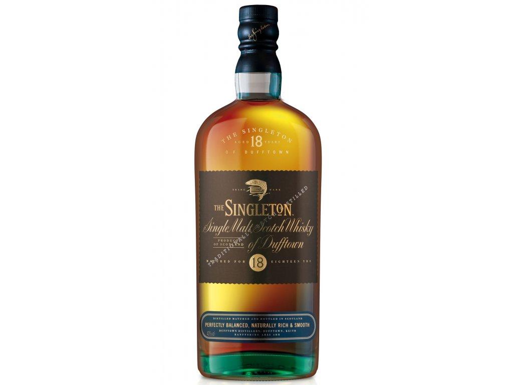 skotska single malt whisky Singleton of dufftown 18 yo bottle