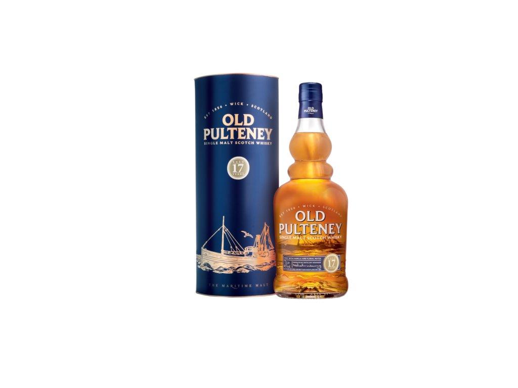 skotska single malt whisky old pulteney 17 yo giftbox