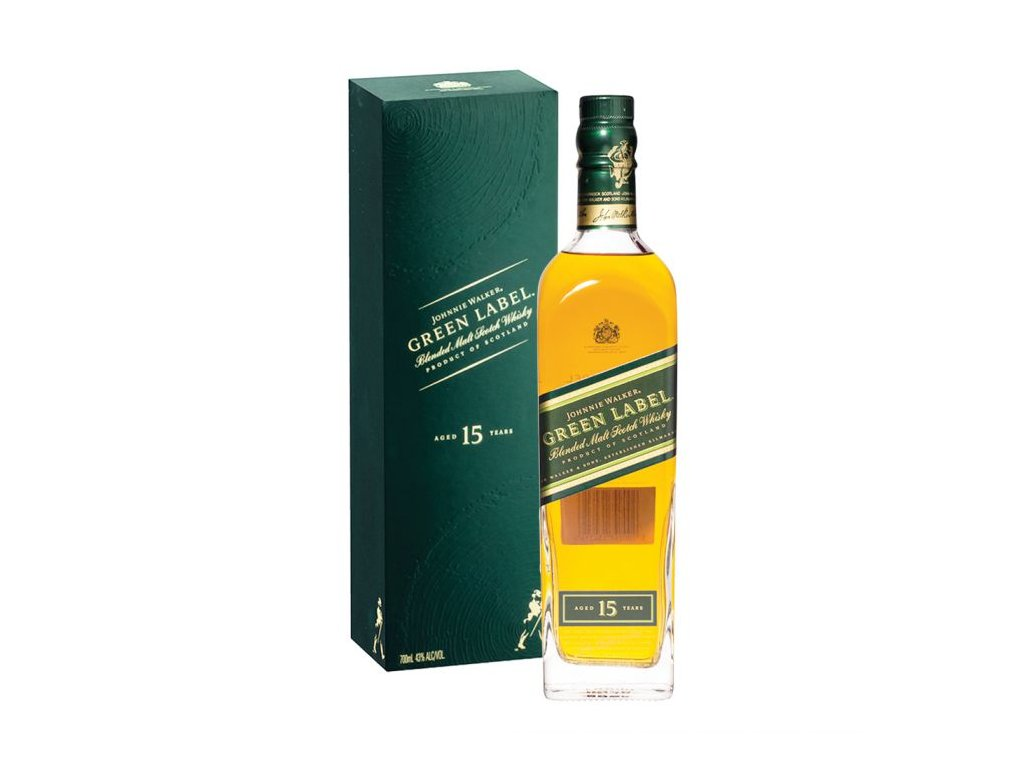 blended whisky Johnnie walker green label giftbox