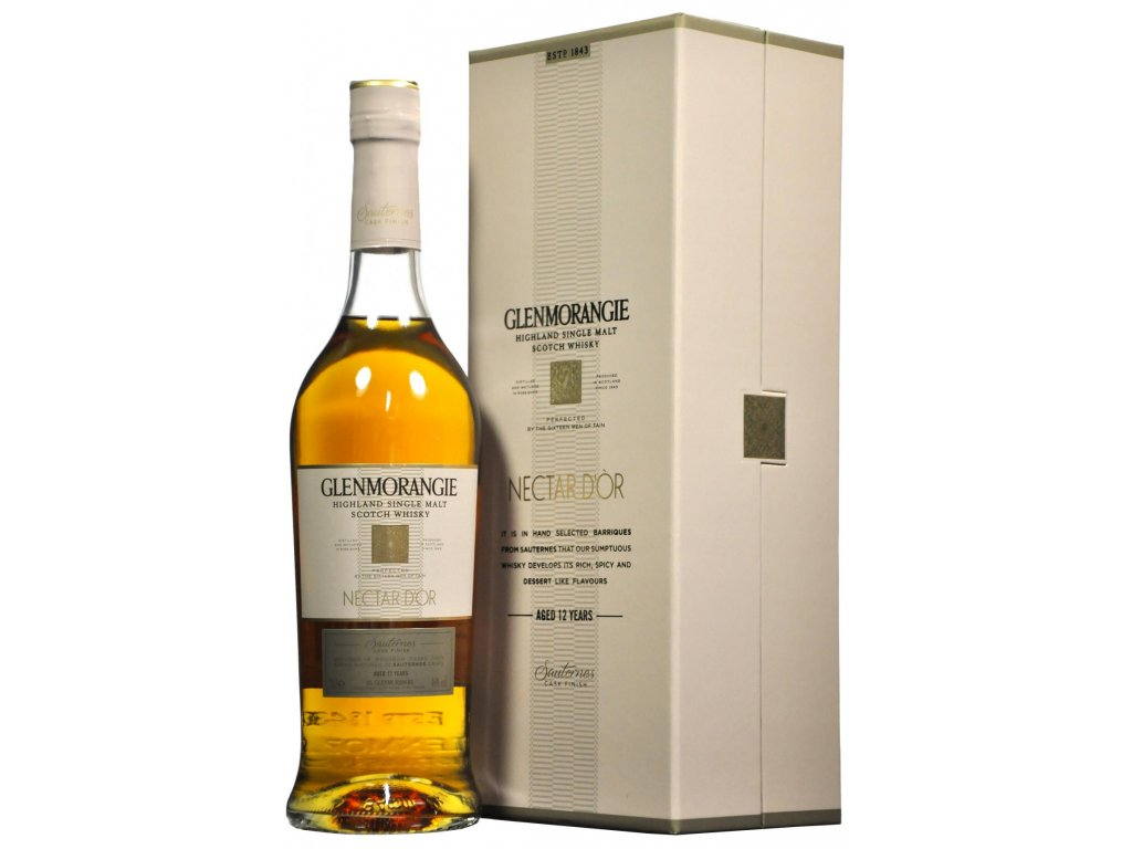 skotska single malt whisky Glenmorangie nectar dor giftbox