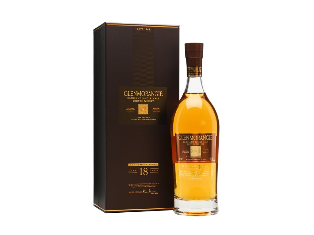 skotska single malt whisky Glenmorangie 18 yo giftbox