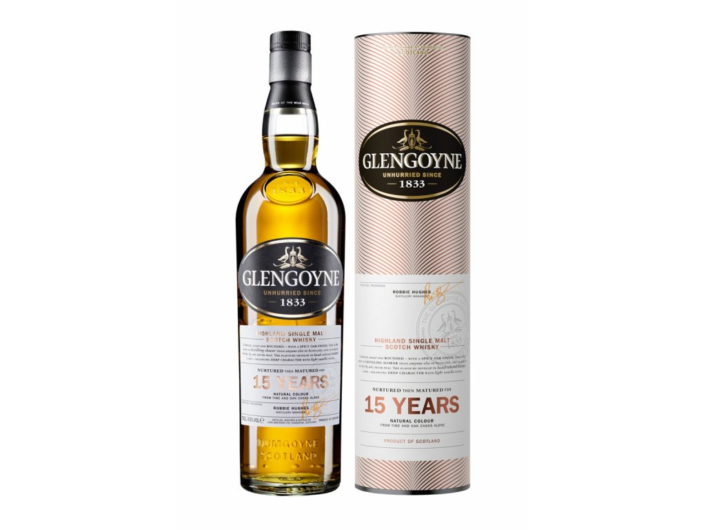 skotska single malt whisky glengoyne 15 yo giftbox
